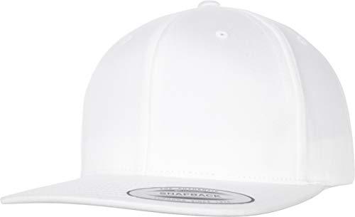 Flexfit Uni Organic Cotton Snapback Cap, White, one Size