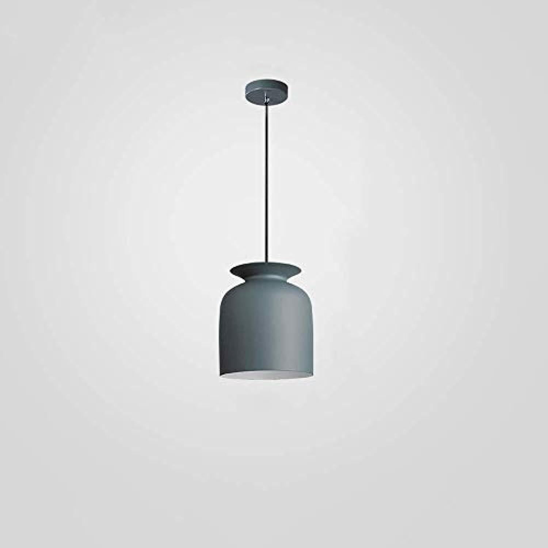 HBLJ  Nordic Aluminium E27 Macaron Kronleuchter Einfache Bar Hngelampe Farbige Pendelleuchte Restaurant Schlafzimmer Nachttischlampen Moderne Kunst und Kreative Beleuchtung (Farbe  Hellgrau-B)