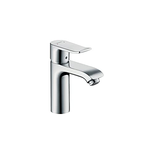 hansgrohe Metris Modern Upgrade Easy Install 1-Handle 1 7-inch Tall Bathroom Sink Faucet in Chrome, 31080001