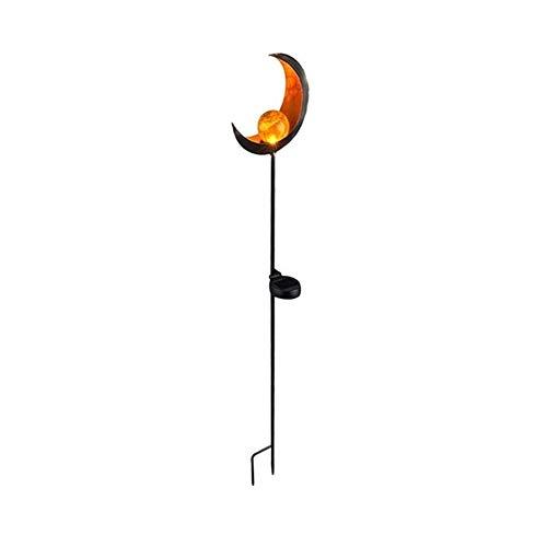 MINGMIN-DZ Dauerhaft Solar-LED-Flamme-Licht wasserdichter Retro Eisen Garten Rasen-Lampe im Freien Garten-Landschaft-Dekor-Beleuchtung Sonne-Mond-Flamme Dropshipping (Emitting Color : A)