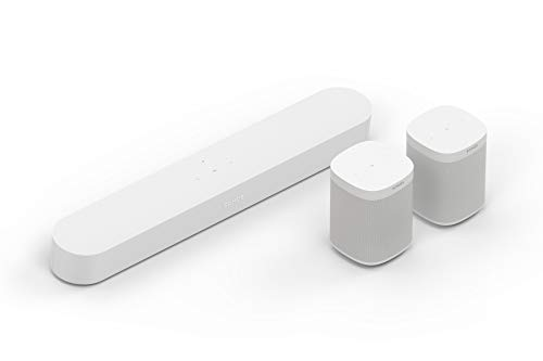 Sonos Beam WLAN Soundbar Speaker | Heimkinoset (5.0 | Beam + 2X One SL, weiß)