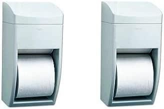 Bobrick 5288 Matrix Series Two-Roll Tissue Dispenser, 6 1/4w x 6 7/8d x 13 1/2h, Gray (2-(Pack))