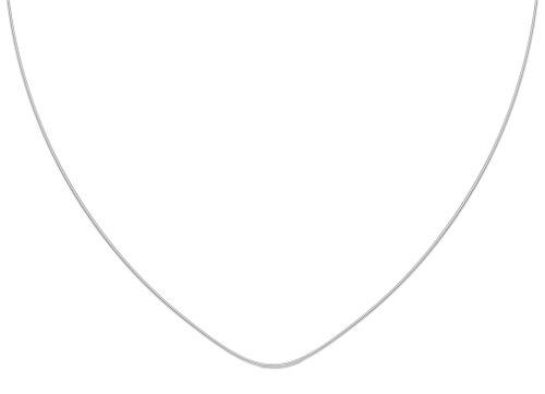 Les Plaisirs de Stella - Collana con cordoncino in nylon e chiusura in argento 925/000-40 cm