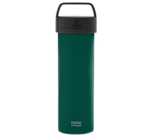 ESPRO P0 Ultralight Double Walled Stainless Steel Vacuum Insulated Coffee French Press, 16 Ounce, Green