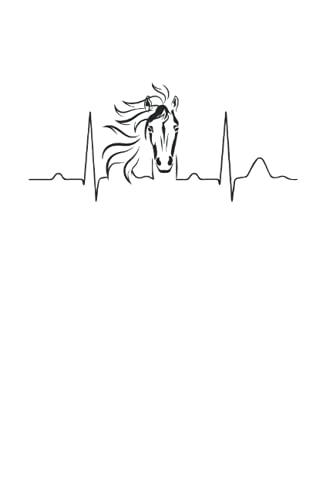 Pista de caballos: Din A5 caballos portátiles de frecuencia cardíaca caballo de regalo de 120 páginas