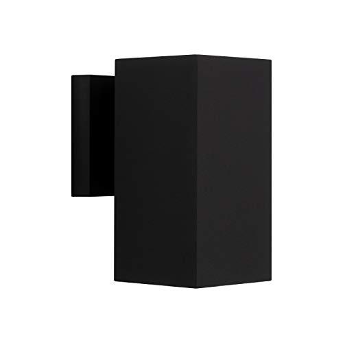 Sunset Lighting F6891-31 Square One Light Exterior - Aluminum Sconce, With Black Finish