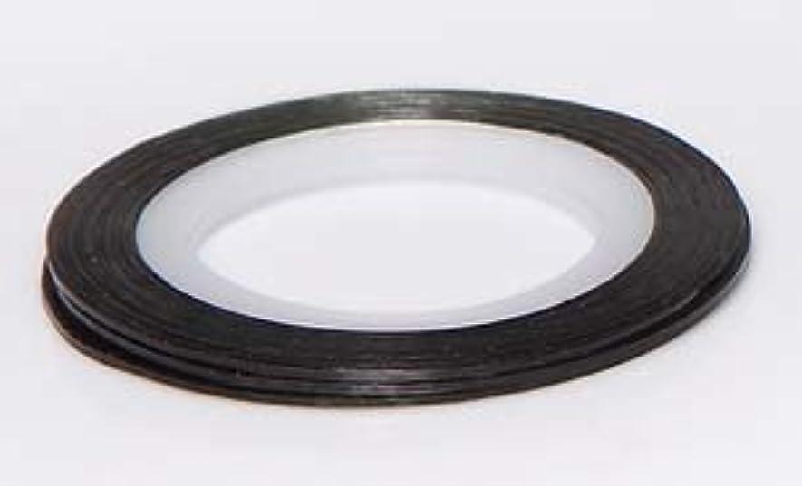 ループマサッチョベーシック【ラインストーン77】 ラインテープ 1mm 各色.選択可 (黒)