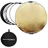 """FOTOCREAT 43""""(110cm) 5 in 1 Round Reflector Photography Portable Handle Collapsible..."""