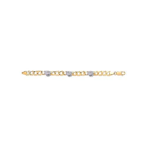 Eternity Armband mit Boxhandschuhen, 9 Karat Gold, Zirkonia