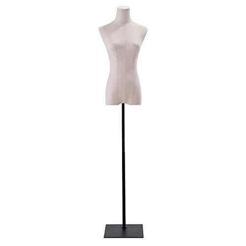 Barture Maniquí De Costura Busto Maniquies Mujer Tela De Lino Altura Ajustable 3 Estilos para Exhibición De Ropa (Color : C, Size : S)