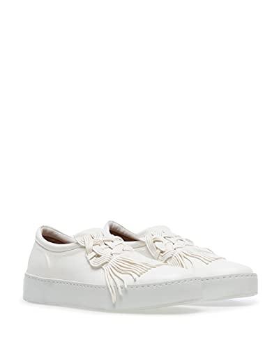 POMME DOR Damen Schuhe Sneakers Slip On Glove White Leder Weiss