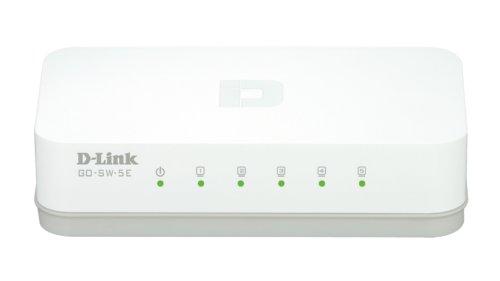 D-Link GO-SW-5E Switch 5 Ports Ethernet 10/100mbps - Idéal Partage de Connexion et Mise en Réseau Small/Home Office