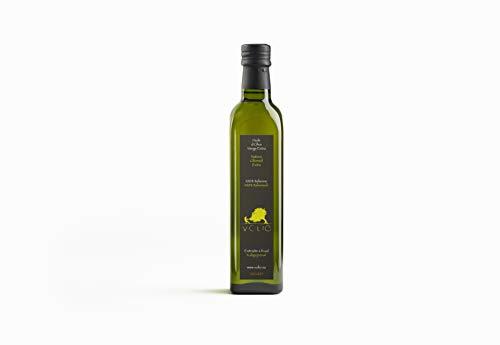 Volio Italienisches, natives Olivenöl Extra - Mit Mandeln, Kräutern & Pfeffer - Reines Premium-EVOO, kaltgepresst, nativ - Frisch aus Italien - Italienische Feinkost & Delikatessen – 500 ml Flasche