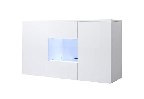 muebles bonitos Aparador Modelo Luke A2 (120x70cm) Colgante Color Blanco