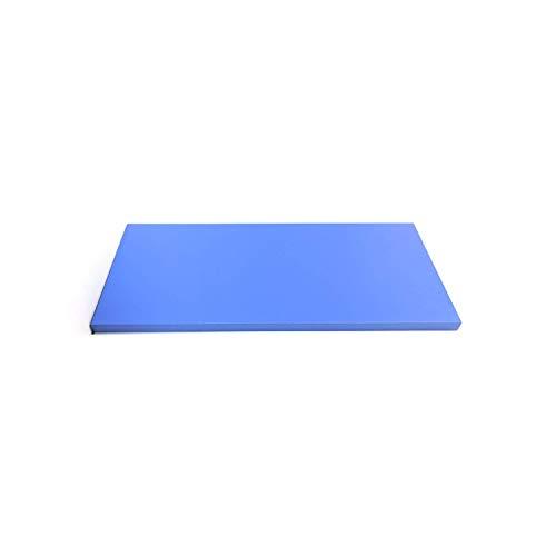 El Espacio de construcción estantería de Pared de Color Azul Rectangular y Resistente con Las siguientes Medidas 100 x 20 Ideal para Dormitorio, Oficina, Biblioteca CD/DVD Madera