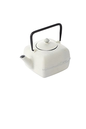 A'Domo PV-GIF-6409 Point-Virgule Cast Iron Teapot with Filter Square White 1L