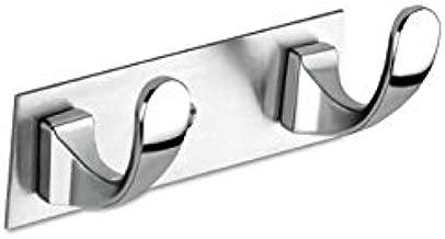 Keepwell 2 Pin Hook Stainless Steel Bathroom Cloth Hooks/Hanger/Key Holder/Door Wall Robe Hooks Rail for Hanging Keys, Clothes, Towel (1)