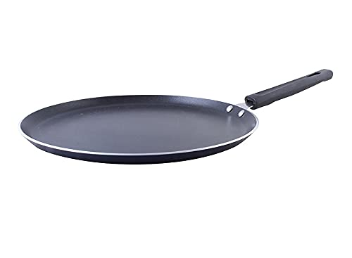 Dosa Pan Nonstick Dosa Tava Griddle Dosa Pan Fry Pan Easy to Cook Indian Style Cookware with Handle Pizza Crepe Pan, 3 mm Thick, 3 Layer Non Stick Coating Size - (30 x 30 cm)