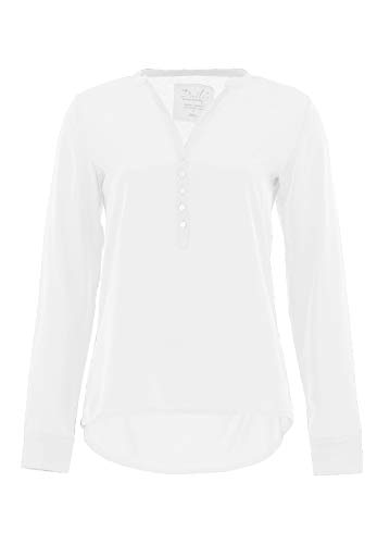 DAILY`S NOTHING`S BETTER BY S. W. B. Giada: Longsleeve Blusenshirt, Color:White, Size:XL