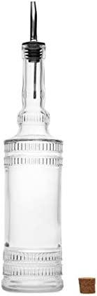 Large Clear Decorative Glass Bottle with Spout and Cork 32oz 1 Bottle Design EPLI 3in X 11 9in product image