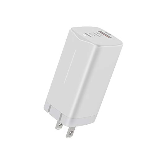 USB C Charger [GaN Tech] 65W Fast 3 Port (2 Port USB C and 1 USB A) with Foldable Plug USB C Type C Wall Charger for iPad Pro, MacBook, Surface, USB C Laptop, Samsung (White)