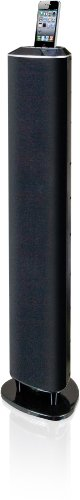iLive ITP152B Vertical Sound Bar with Play and Charge Dock for iPhone/iPod (Black)