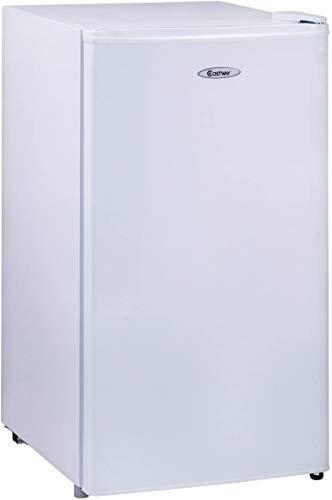 DREAMADE Frigorifero Mini Frigo con 6 ripiani e Cassetto grande per verdure,Regolatore Temperatura a 7 Livelli,91L,230V,Classe di efficienza energetica A+ (bianco)