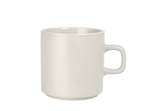 blomus MIO Keramik-Kaffeebecher, 9oz Moonbeam – cremefarben, 4 Stück