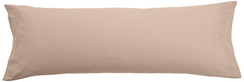 Pikolin Home - Funda de almohada 100% algodón, transpirable y de 150 hilos calidad extra en color marrón claro