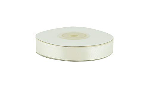Creativery Satinband 12mm x 25m Ivory Geschenkband Schleifenband Dekoband Hochzeit