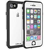 CellEver Compatible with iPhone 6 / 6s Waterproof Case Shockproof IP68 Certified SandProof Snowproof Full Body Protective Clear Transparent Cover Designed for iPhone 6 / 6s (4.7 Inch) KZ White