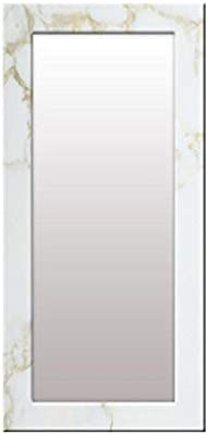 999Store Printed White Marvel Pattern Mirror