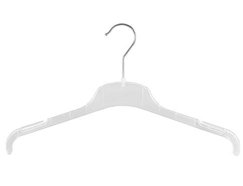 Kleiderbügel für Kostüme, Blusen und Shirt, 43 cm, FO1-43c, transparent, 20 Stück