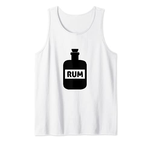 Botella de ron Pirata Beber Camiseta sin Mangas