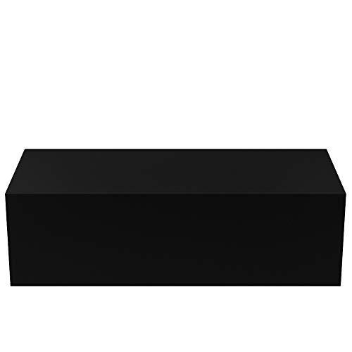 EBTOOLS Tv-meubel om op te hangen, modern, tv-meubel met opslag, tv-wand, van MDF, wanddecoratie voor slaapkamer, woonkamer, wit/zwart, 100 cm zwart.