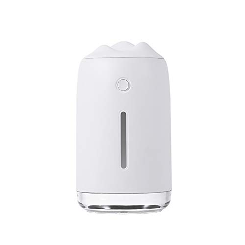 BEICHENG Air humidifier, USB small humidification silent desktop LED portable air humidifier, family car bedroom childrens room