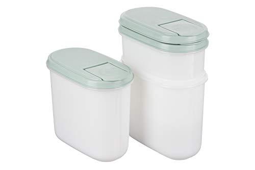 MiraHome Green - Juego de 3 botes de almacenamiento (1,2 L), color verde