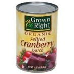 Grown Right Organic Jellied Cranberry Sauce, 14 Ounce - 24 per case.