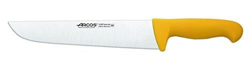 Arcos Serie 2900, Cuchillo Carnicero, Hoja de Acero Inoxidable Nitrum de 250 mm, Mango inyectado en Polipropileno Color Amarillo