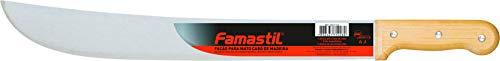 """Facão para Mato Famastil – 20"""" – Cabo de madeira – Lâmina polida e temperada – Cabo com desenho ergonômico"""