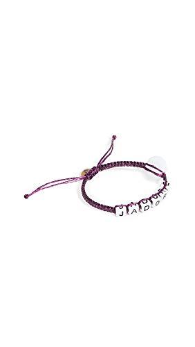 Maison Irem Women's Message Bead Eye Bracelet, J'Adore Purple, One Size