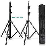 Best Light Stands - EMART Light Stand 8.5ft, Dual Spring Cushioned Adjustable Review