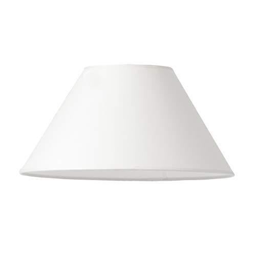Pantalla redonda de Varia Living en blanco | pantalla grande de recambio para lámpara de mesa o de pie | forma cónica | estilos de hogar vintage, moderno, industrial, clásico, rústico