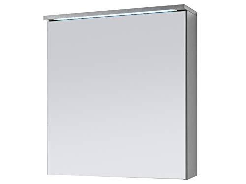 Spiegelschrank Badschrank Spiegel Badhängeschrank Badmöbel Kirkja I Titan/Weiß 60 cm