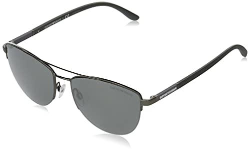Emporio Armani Gafas de Sol EA 2116 Matte Ruthenium/Grey 57/17/145 hombre
