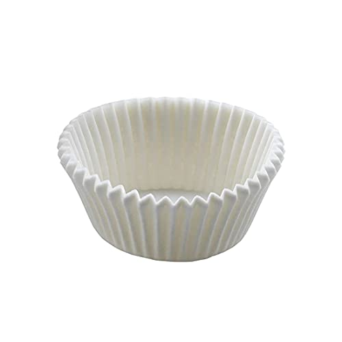 Gráficas Salaet – 200 moldes de papel pergamino blanco antigrasa – Molde Repostería y Pastelería – 50x32mm - Cápsulas para hornear - Cupcakes, muffins