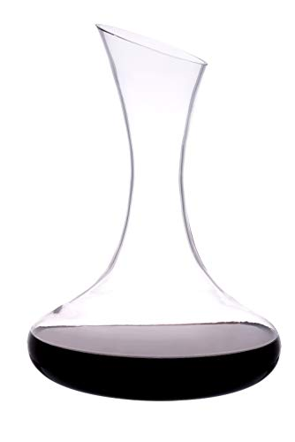 Katie JayneTM carafe à décanter en verre, faite à la main, 1,5 l