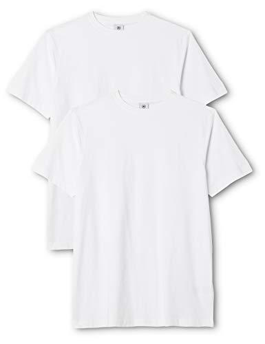 LERROS Herren LERROS Herren Rundhals T-Shirt Doppelpack T-Shirt,,per pack Weiß (White 100),X-Large