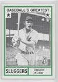 Chuck Klein (Baseball Card) 1982 TCMA Baseball's Greatest - Sluggers - Tan Back #1982-26