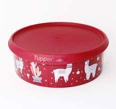 Tupperware® Ergonomica 2,4 Liter rund Servier-Schüssel Vorratsbehälter Keksdose